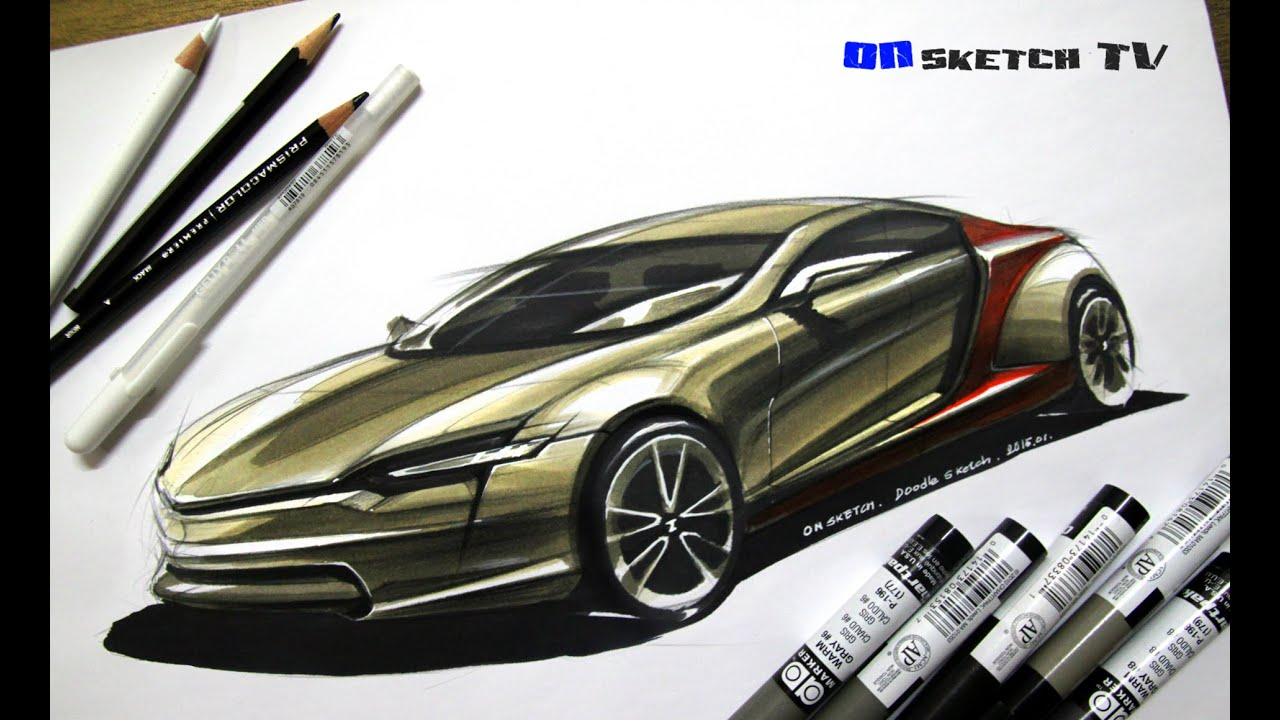 ???? Tv Sketch Midship Supercar Concept Design Sketch