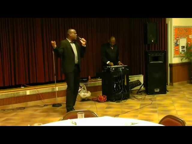 "David Kasonga performing ""Be Magnified"""