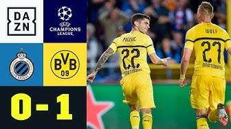 Dusel-Bogenlampe von Christian Pulisic: Brügge - Dortmund 0:1 | UEFA CL | DAZN Highlights
