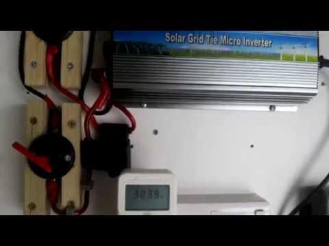 Solar grid tied garage setup UK - Inverter replacement after failure.