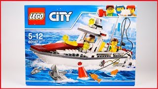 UNBOXING LEGO 60147 City Fishing Boat Construction Toy Speed Build