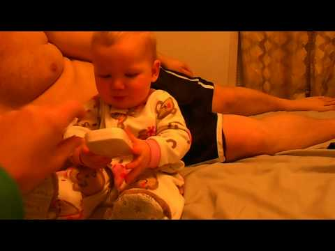 baby getting mad at mommy and daddy