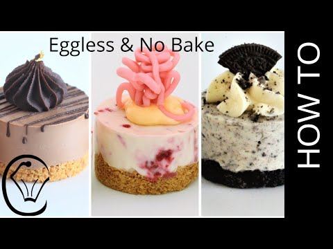 3 EASY Mini Cheesecakes No Bake Eggless Chocolate Raspberry Oreo