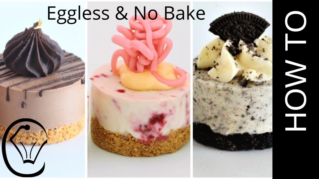 3 Easy Mini Cheesecakes No Bake Eggless Chocolate Raspberry Oreo