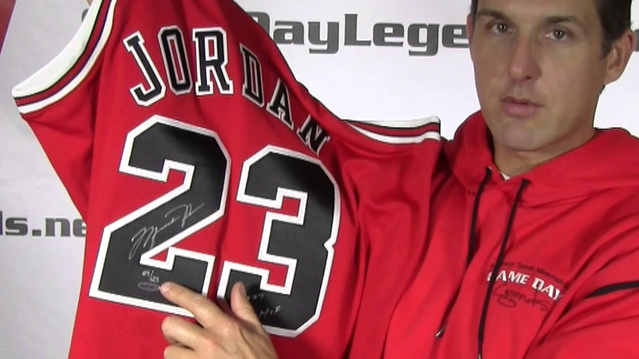 big sale 6a202 da273 Michael Jordan Hall of Fame Signed Jersey from Game Day Legends