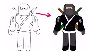How To Draw Roblox Ninja | ROBLOX DRAWING