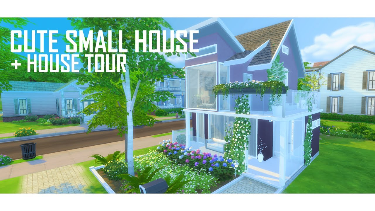 The sims 4 cute small house no 1 build house tour for Photos of cute houses