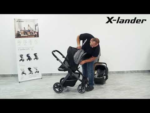 Детская коляска X-Pulse Evening Grey. Видео №2