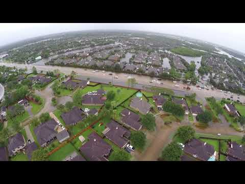 Hurricane Harvey rains, League City, TX