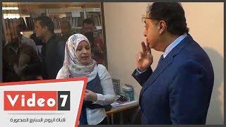 بالفيديو.. وزير الصحة يعنف مدير معهد ناصر بسبب