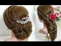 2 hairstyles for long hair tutorial. Bridal Updo, Easy Mermaid Braid