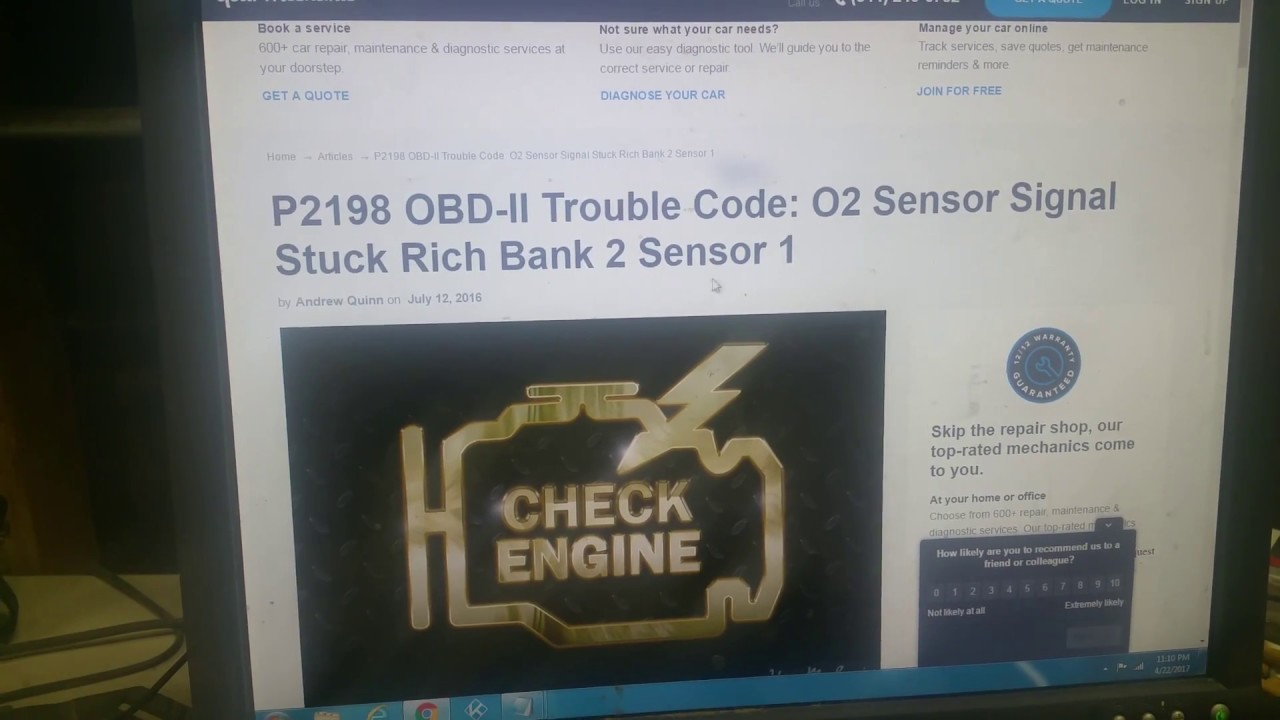 Easy Way To Read Multiple Obd 2 Codes P2197 P2198 Etc Youtube 98 Ford Explorer O2 Sensor Location