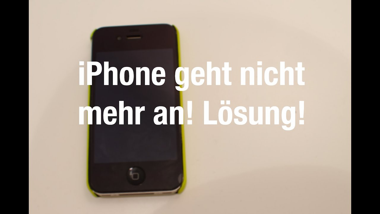 iphone geht nicht mehr an l sung youtube. Black Bedroom Furniture Sets. Home Design Ideas
