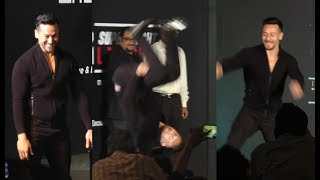 Tiger Shroff Performs Stunts At MTV Super Fight League Launch