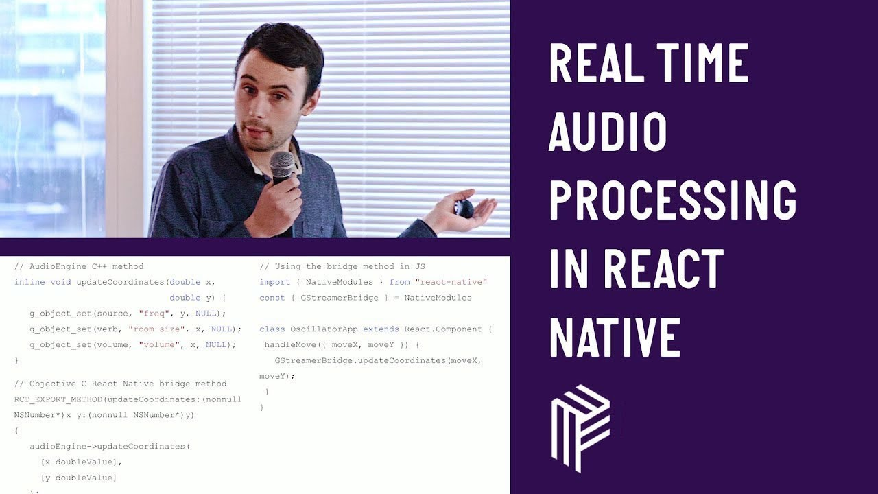 Real Time Audio Processing in React Native - React Native - May 2018