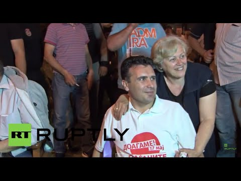 Macedonia: Opposition leader Zaev joins anti-gov protest camp in Skopje