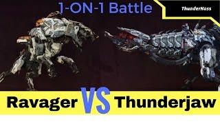 Horizon Zero Dawn - Ravager VS Thunderjaw (Horizon Fight Club #1)