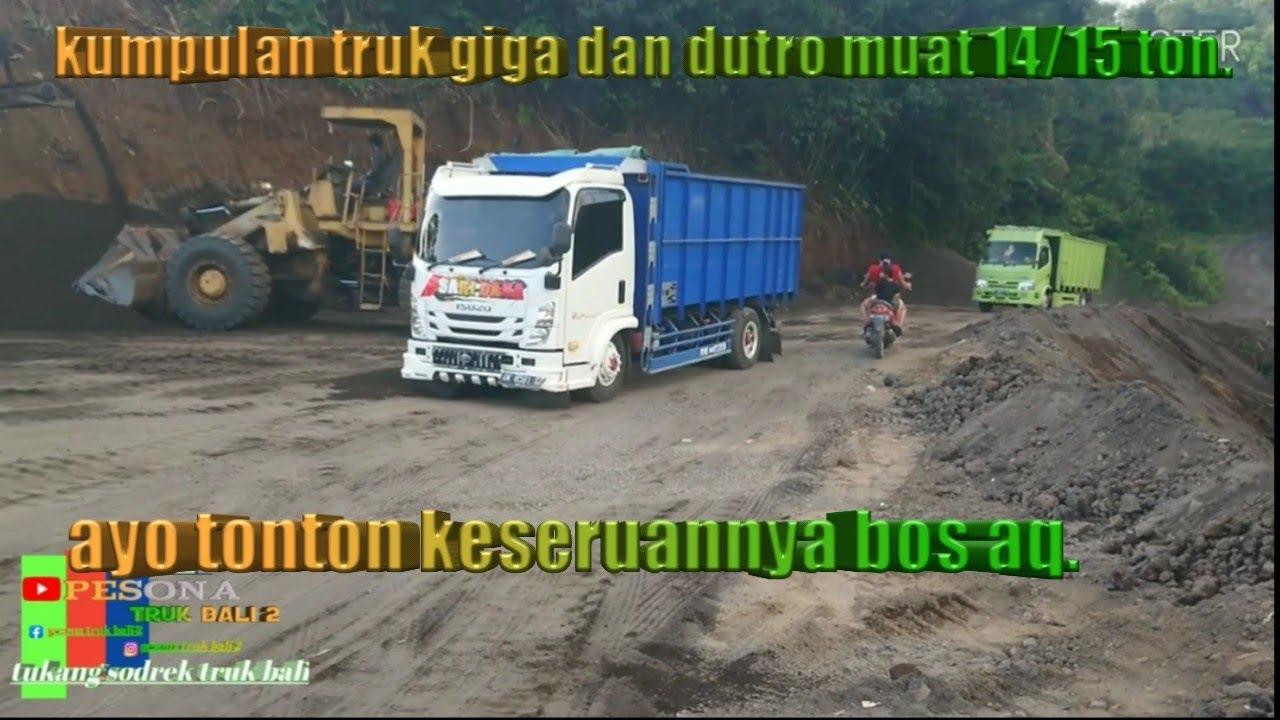 kumpulan truk muat 14/15 ton di jalan tanah #perjuangan supir truk matrial