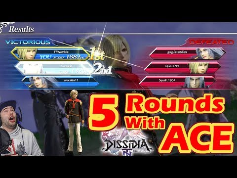 Final Fantasy Dissidia NT:  5 Rounds With Ace (Type-0/Marksman/Ranked Solo)
