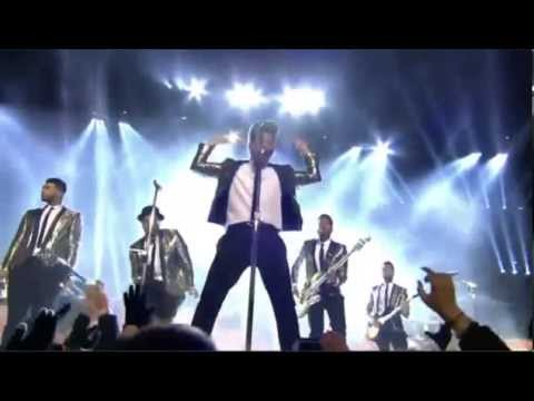 BRUNO MARS Super Bowl Show 2014 Treasure, and Locked Out Of Heaven 360p