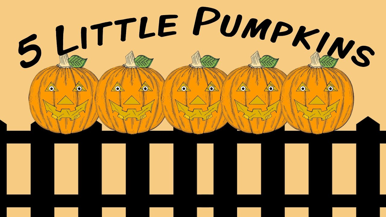 Image result for 5 little pumpkins sitting on the gate