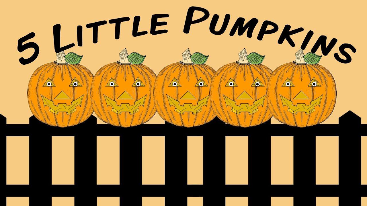 5 Little Pumpkins | Halloween fingerplay song for children ...