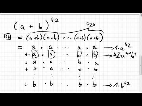 06.06.1 Wiederholung Kombinatorik, allgemeine binomische Formel