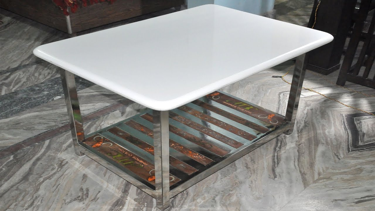 Stainless Steel Coffee Table With