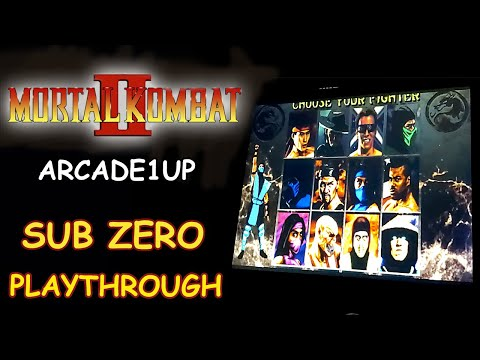 MORTAL KOMBAT 2 ARCADE1UP - SUB ZERO PLAYTHROUGH + ENDING // Lets Play from JDCgaming
