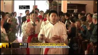 New pope gives hope to Catholics in China