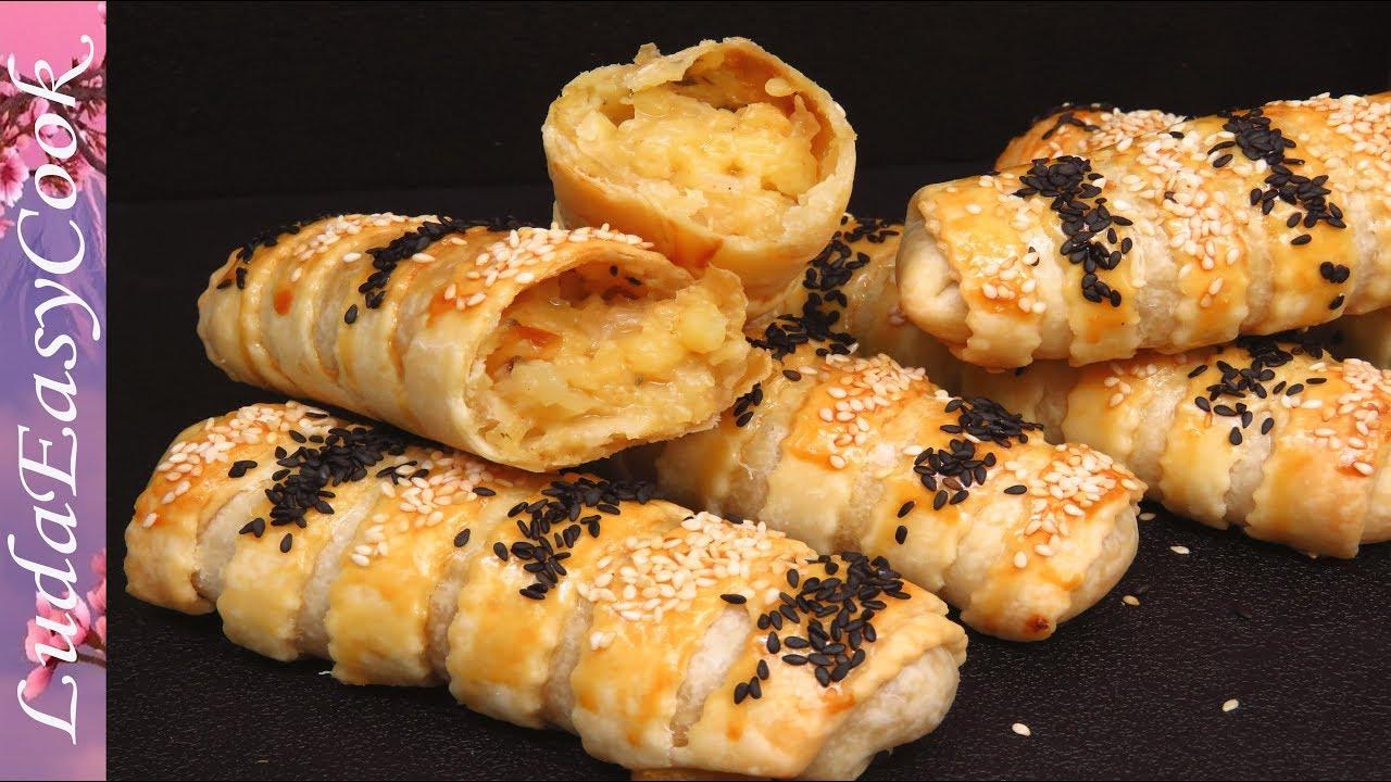 Быстрые Пирожки из тонкого теста с картошкой Съедаются моментально! Вкусная еда в пост