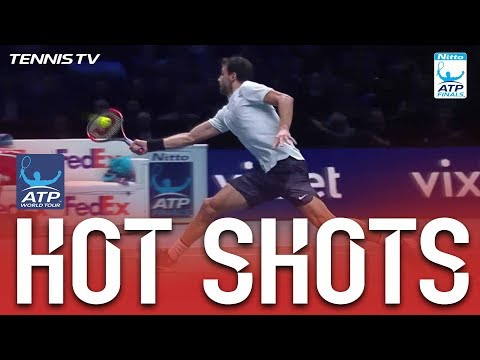 Dimitrov Athleticism And Flair Hot Shot Nitto ATP Finals 2017