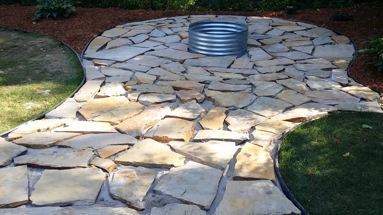 fire pit flagstone patio