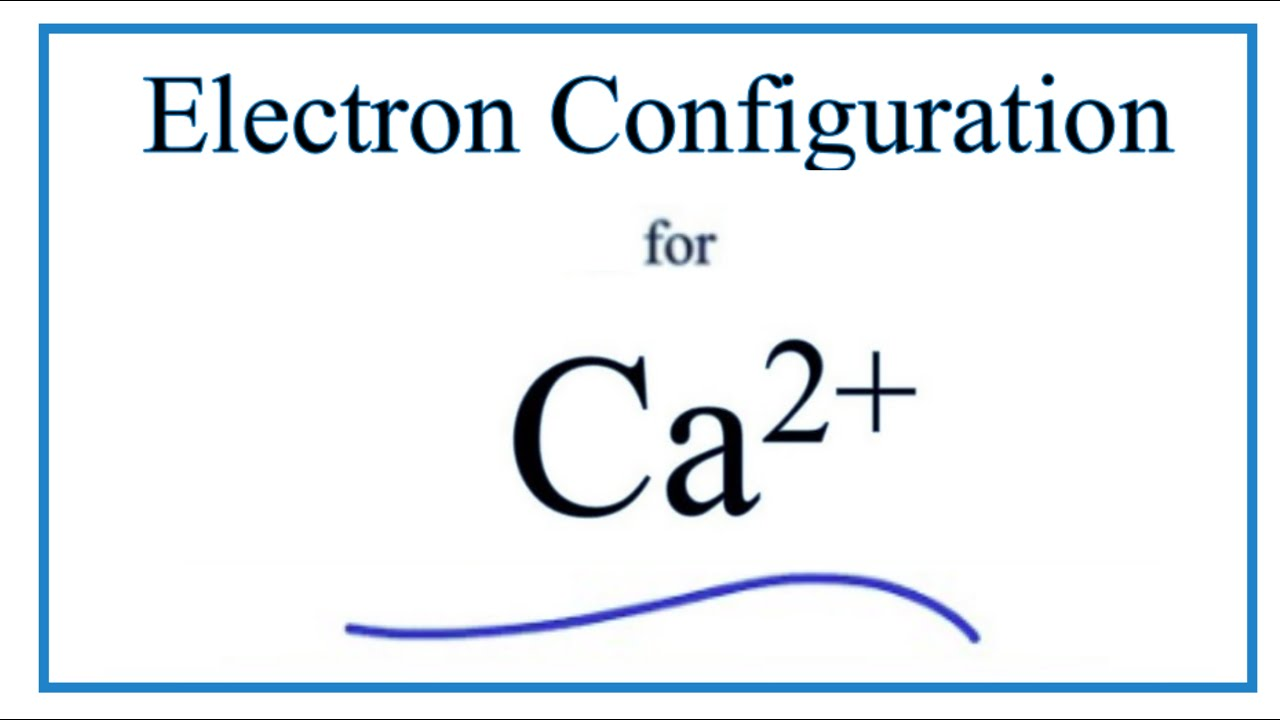 Write How Electron Configuration