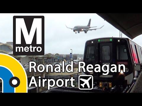 WMATA Metro Trains At Ronald Reagan Airport Station