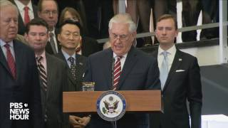 Repeat youtube video Watch Sec. Tillerson speak for first time at State Department