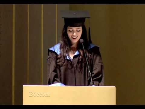Discorso di Laurea di Cristina Di Niro - Università Bocconi, 28 Settembre 2013