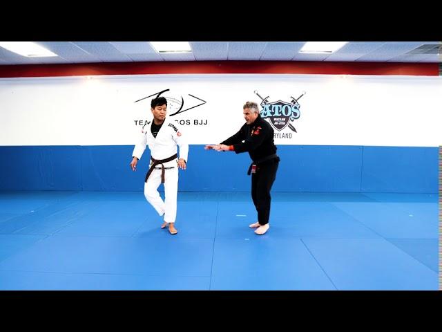 BASIC JIU JITSU SELF-DEFENSE : FROM STANDING - GULLOTINE DEFENSE STANDING