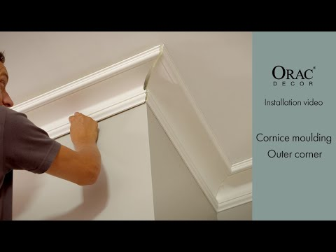 How To Install The Outer Corners Of Cornice Mouldings - Orac Decor® Installation Video