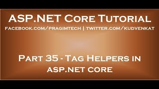 Tag helpers in asp net core