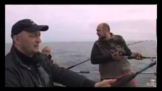 Ловля конгера (морской угорь)