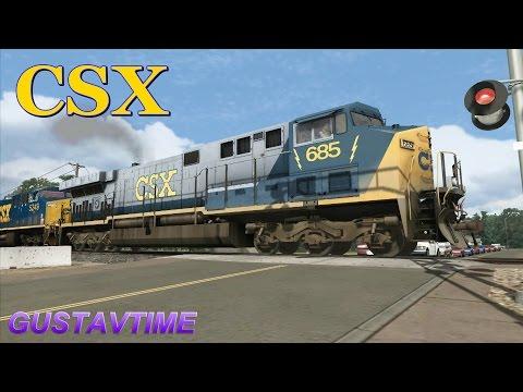 CSX Oil Tanker Train