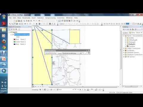 Lecture : 3 | ArcGIS 10 : Georeferenceing