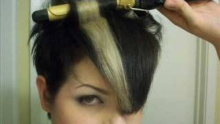Repeat youtube video SHORT HAIR UPDO/ POMPADOUR