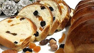 Ночное сдобное тесто Рождественский хлеб Overnight pastry Christmas bread