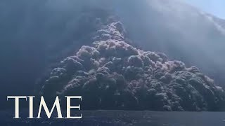 Italy's Stromboli Eruption Causes Giant Cloud Of Smoke | TIME