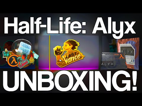 Half-Life: Alyx UNBOXING! (Stickers, Pins, Patches)