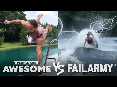 Wake Surfing Wipeouts & More!!  People Are Awesome Vs. FailArmy