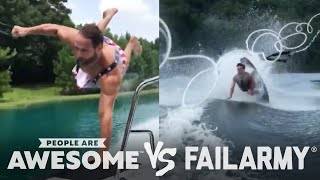 Wake Surfing Wipeouts & More   People Are Awesome Vs. FailArmy