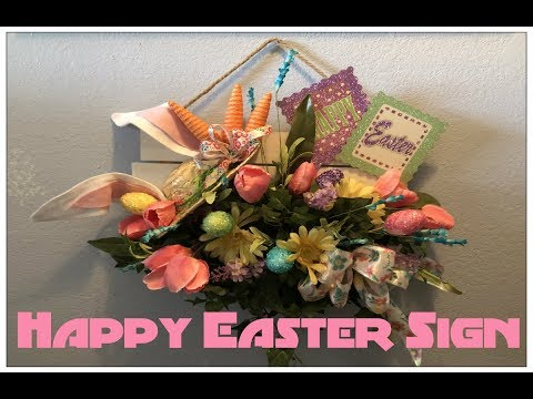 Tricia's Creation: Floral Wall Decor: Happy Easter Sign